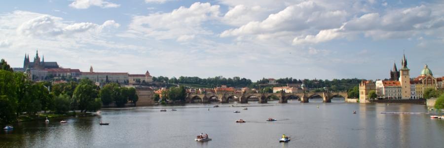 Prag mit Blick über die Moldau