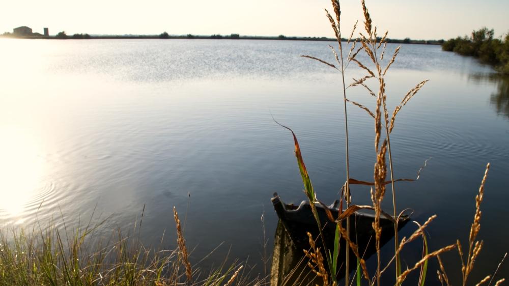 Sonnenuntergang über der Lagune