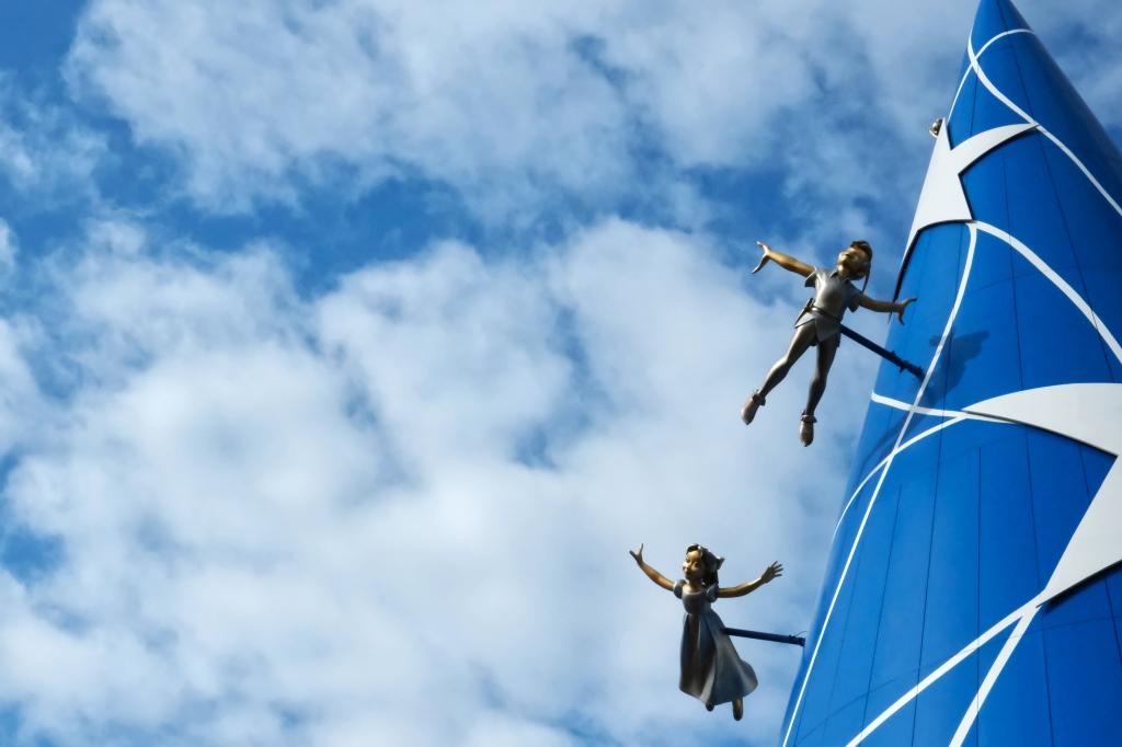 Peter Pan und Wendy fliegen